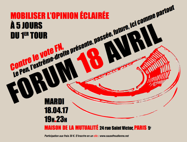 SCALP : Série de Conversations Anti Le Pen : Paris, 18 Avril, MOBILISATION GENERALE !!